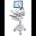 Ergotron StyleView Multimedia cart Aluminium,Grey,White Flat panel