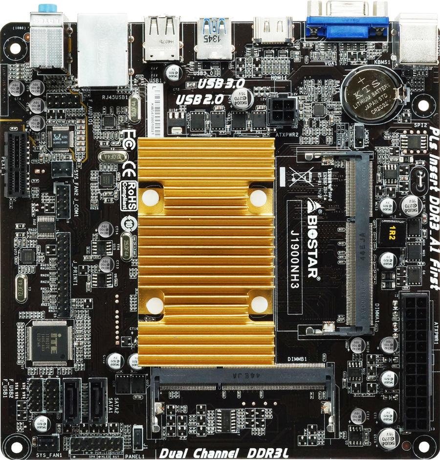 Biostar J1900NH3 Mini-ITX motherboard