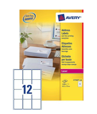 Avery L7164-100 addressing label White Self-adhesive label