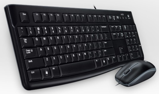 Logitech Desktop MK120, Swiss keyboard USB QWERTZ Black