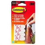 COMMAND 3M COMMAND POSTER STRIPS X12 WHT 17024