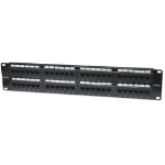 Intellinet Patch Panel, Cat5e, UTP, 48-Port, 2U, Black