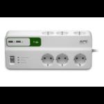 APC Stekkerdoos met overspanningsbeveiliging 6x stopcontact + 2x USB