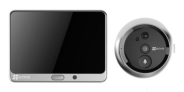 Ezviz CS-DP1-A0-4A1WPFBSR Smart Peephole View Doorbell Cam Works with Alexa