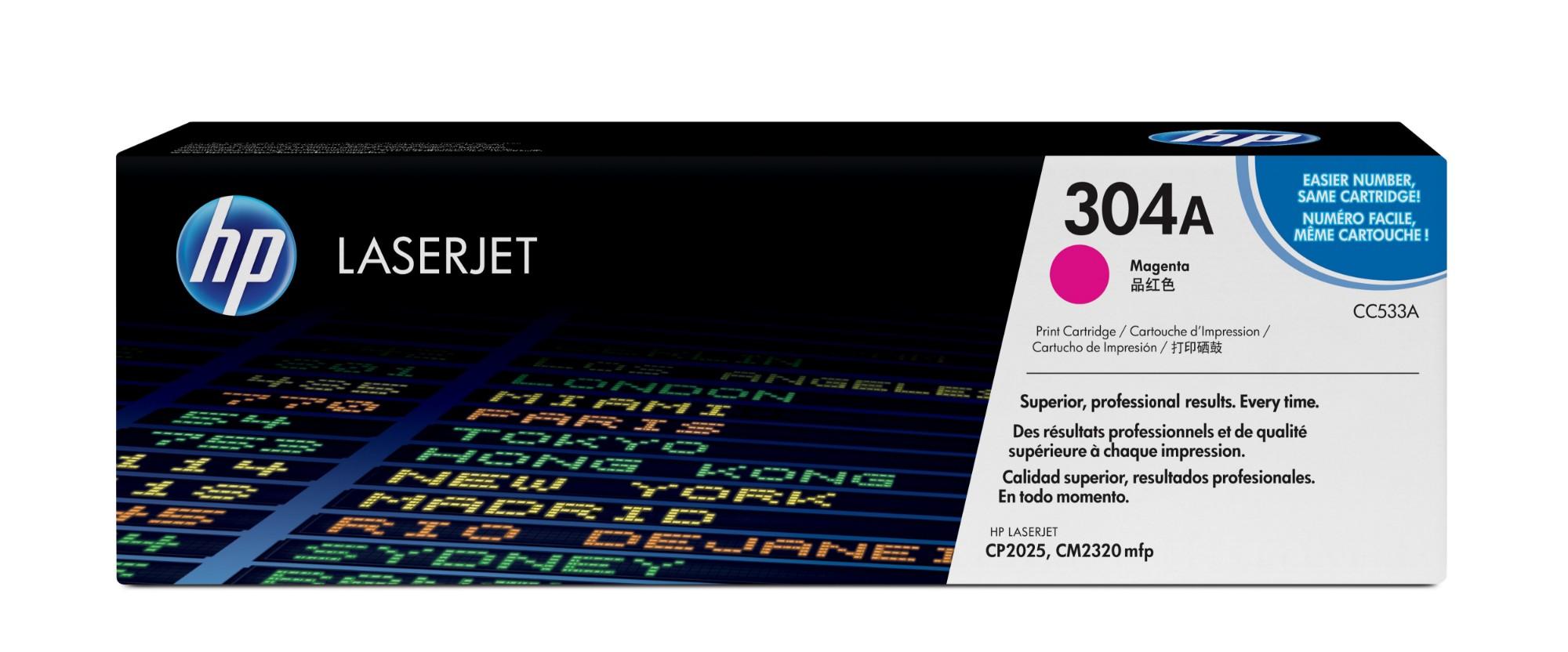 HP CC533A (304A) Toner magenta, 2.8K pages