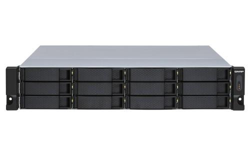 QNAP TL-R1200S-RP HDD/SSD enclosure Black, Grey 2.5/3.5