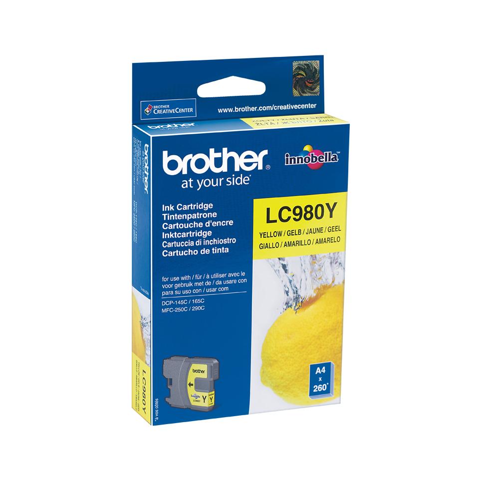 Brother LC-980Y cartucho de tinta Original Amarillo 1 pieza(s)