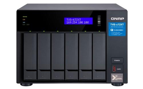 QNAP TVS-672XT NAS Tower Ethernet LAN Black i3-8100T