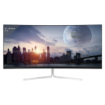 "LC-Power LC-M34-UWQHD-100-C-V2 computer monitor 86.4 cm (34"") 3440 x 1440 pixels UltraWide Quad HD Silver, White"