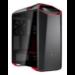 Cooler Master MasterCase MC500Mt Midi-Tower Black, Metallic, Red computer case