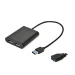 i-tec U3DUAL4KDP USB grafische adapter 5120 x 2880 Pixels Zwart