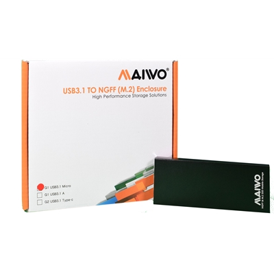 MAIWO USB 3.1 M.2 SSD Enclosure Black