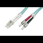 ASSMANN Electronic LC/ST, 15m Glasvezel kabel OM3 Blauw