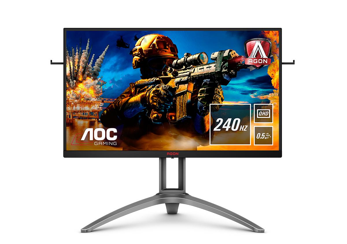 """AOC AG273QZ pantalla para PC 68,6 cm (27"""") 2560 x 1440 Pixeles WQHD LED Negro, Rojo"""