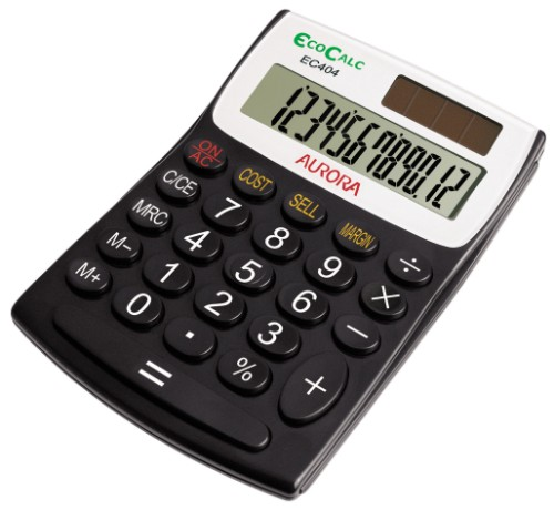 Aurora EC404 calculator Pocket Basic Black