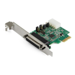 StarTech.com 4-port PCI Express RS232 Serial Adapter Card - PCIe RS232 Serial Host Controller Card - PCIe to Serial DB9 Card - 16950 UART - Expansion Card - Windows, macOS, Linux