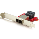 StarTech.com Mini-SAS adapter dual SFF-8643 naar SFF-8644 full/low-profile steunen 12Gbps