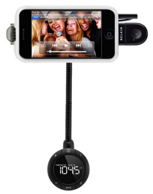 Belkin TuneBase FM with Handsfree In-car Mobile Phone/Digital Player Charger and Holder
