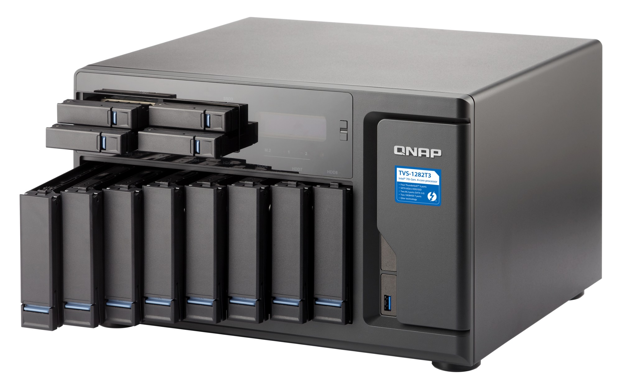 QNAP TVS-1282T3 Ethernet LAN Tower Black NAS
