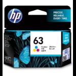 HP 63 ink cartridge Cyan, Magenta, Yellow 4 ml 165 pages
