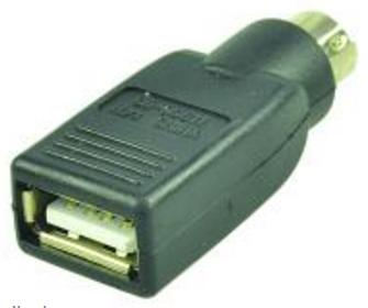 2-Power PS/2 Male - USB Type A USB Type A PS/2 Black cable interface/gender adapter