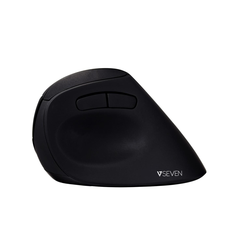 V7 Ratón óptico inalámbrico de diseño ergonómico con 6 botones y ppp ajustables MW500 - Negro
