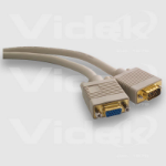 Videk SVGA M to F Gold Series Coax Monitor Extension Cable 2m VGA cable VGA (D-Sub)