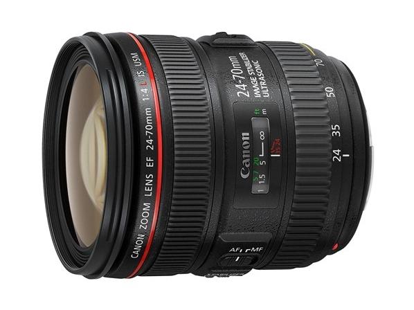 Canon EF 24-70mm f/4L IS USM SLR Standard zoom lens Black