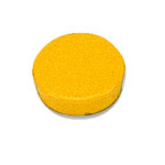 BI-Office Round Magnets 20mm Yellow PK10
