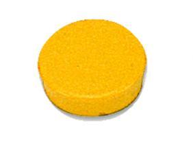 Bi-Office Round Magnets 20mm Yellow PK10