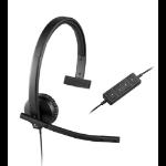 Logitech H570e Monoaural Diadema Negro auricular con micrófono