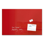 Sigel GL142 Glass 1000 x 650mm Red magnetic board