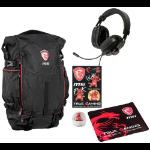 "MSI GT Gaming Xmas Pack 2017 notebook case 39.6 cm (15.6"") Backpack Black,Red"