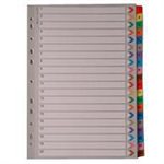 White Box WB MYLAR INDEX A4 1-20 MULTI