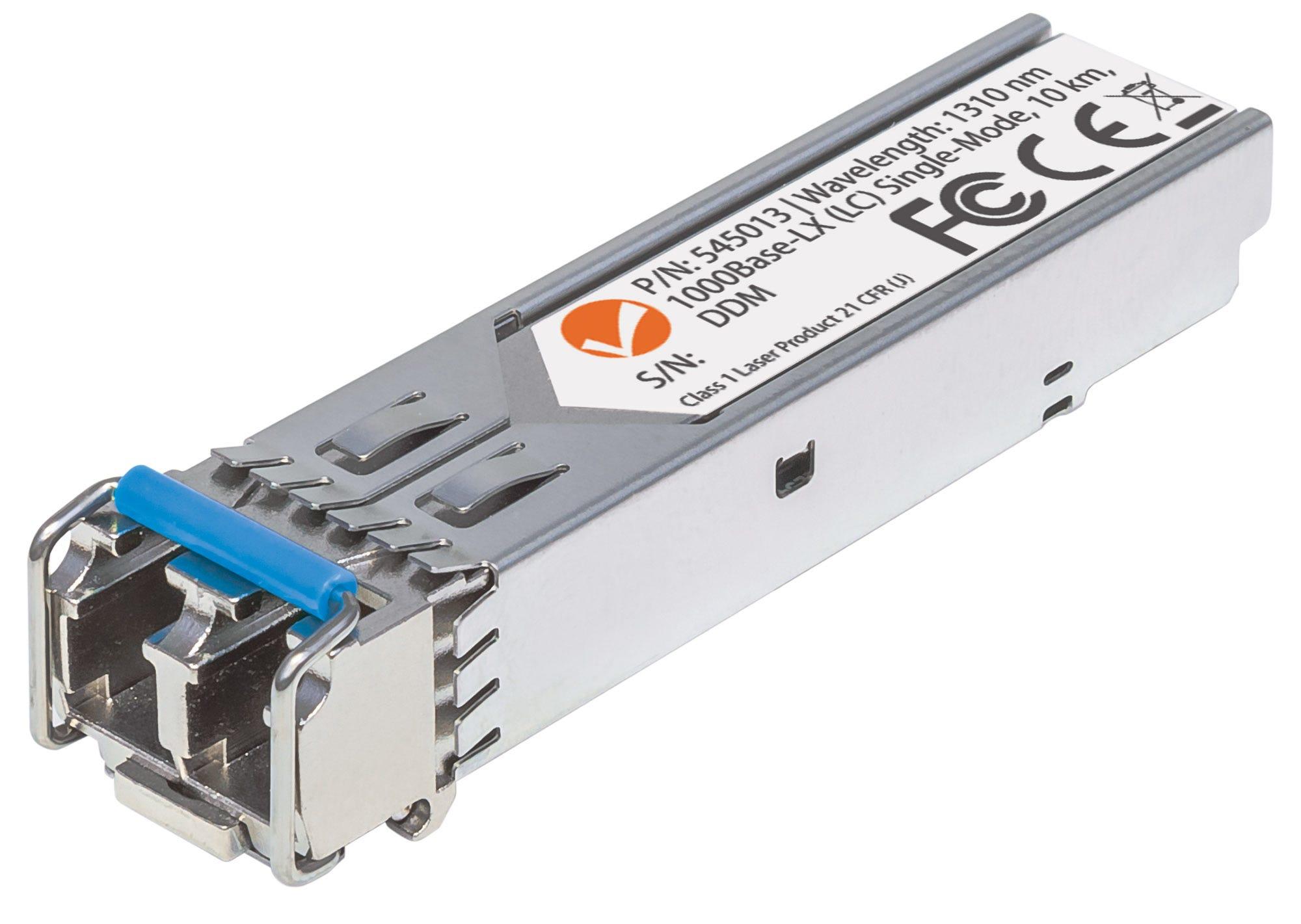 Intellinet Gigabit Fibre SFP Optical Transceiver Module, 1000Base-Lx (LC) Single-Mode Port, 10km