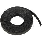 Cablenet 25m Hook & Loop 9mm Reel Black
