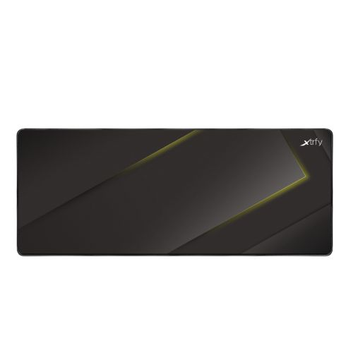 Xtrfy GP1 Extra Large Surface Gaming Mouse Pad, Black & Yellow, Cloth Surface, Washable, 920 x 360 x
