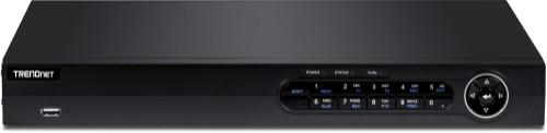 Trendnet TV-NVR408 network video recorder 1U Black