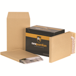 New Guardian Envelopes Heavyweight Peel and Seal Gusset 25mm 130gsm Manilla C4 [Pack 100]