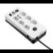 Eaton PB6TUD limitador de tensión 6 salidas AC 220 - 250 V Negro, Blanco 1,5 m