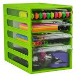 ITALPLAST OFFICE ORGANISER ITALPLAST 4 DRAWER LIME(EACH)