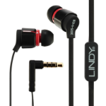 Lindy IEM-50X In-ear Binaural Wired Black,Red mobile headset