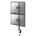 "Newstar FPMA-D550DVBLACK flat panel desk mount 81.3 cm (32"") Clamp Black"