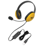 Ergoguys Listening First Binaural Head-band Black,Yellow headset