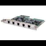 Hewlett Packard Enterprise MSR 4-port FXS / 1-port FXO DSIC Module network switch module