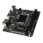 MSI B250I PRO Intel B250 LGA 1151 (Socket H4) Mini ITX motherboard