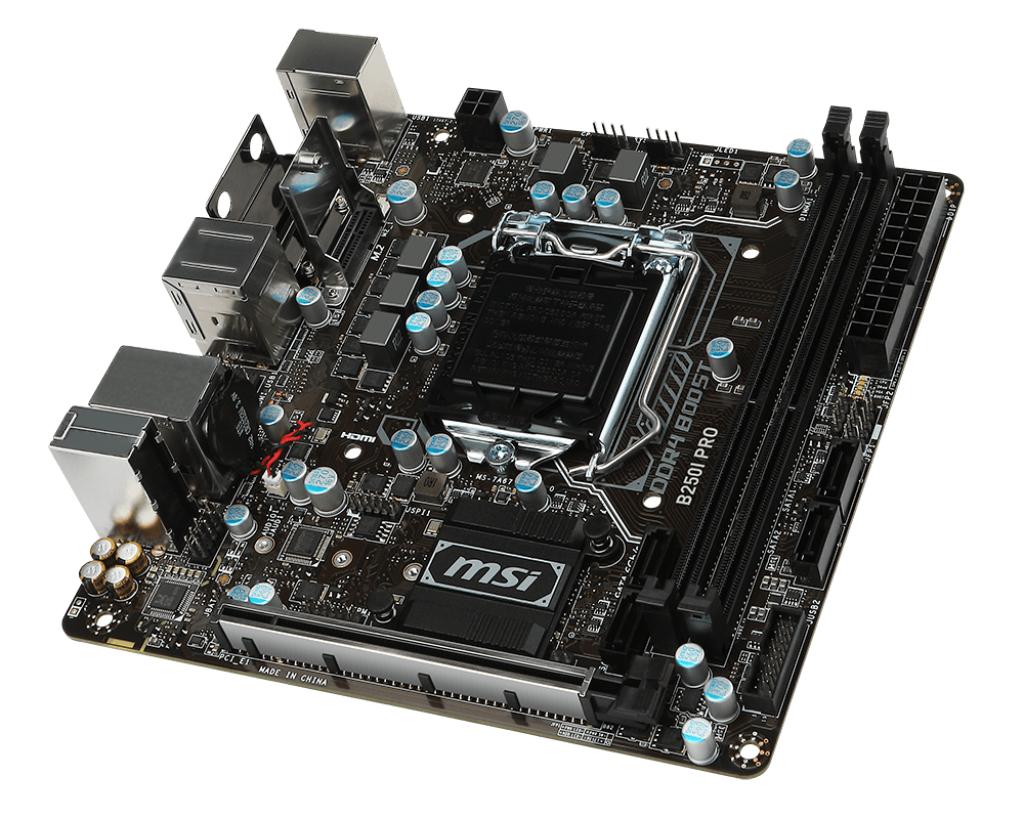 MSI B250I PRO Intel B250 LGA 1151 (Socket H4) Mini ITX motherboard