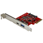 StarTech.com 2-Port USB 3.1 (10Gbps) Card - 1x USB-C, 1x USB-A - PCIe