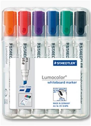 Staedtler 351 B WP6 marker 6 pc(s) Black, Blue, Green, Orange, Red, Violet