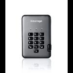 iStorage diskAshur PRO2 1TB 256-bit USB 3.1 secure encrypted solid-state drive IS-DAP2-256-SSD-1000-C-G